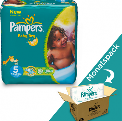 Pampers Baby-Dry Junior Monatspack 5