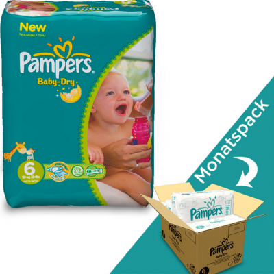 Pampers Baby-Dry XXL Monatspack 6