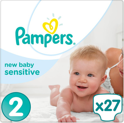 Pampers New Babu Sensitive Sparpack groesse 2 mini mit 27 Windeln