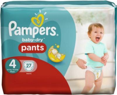 Pampers - Baby-Dry Pants Maxi - Sparpack - Größe 4 - 27 Windeln