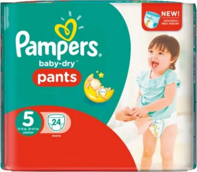 Pampers - Baby-Dry Pants Junior - Sparpack - Größe 5 - 24 Windeln