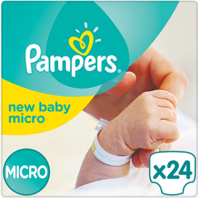 Pampers New Baby Micro Tragepack mit 24 Windeln