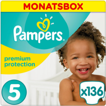 Pampers - Premium Protection Junior - Monatsbox mit 136 Windeln - Größe 5