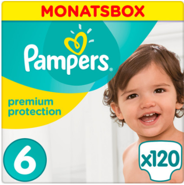 Pampers - Premium Protection XL - Monatsbox mit 120 Windeln - Größe 6