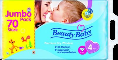 beauty baby premiumwindeln 4 angebot jumbo pack. Black Bedroom Furniture Sets. Home Design Ideas