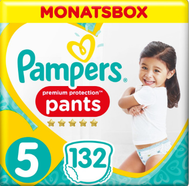 Pampers Premium Protection Pants Groesse 5 Monatsbox mit 132 Windelpants