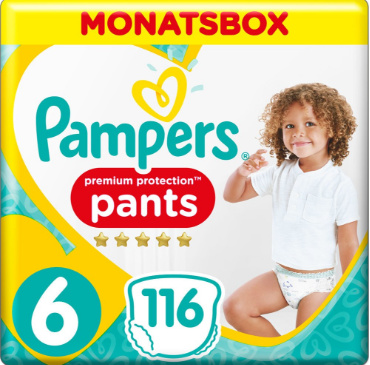 Pampers Premium Protections Groesse 6 Monatsbox mit 116 Windeln